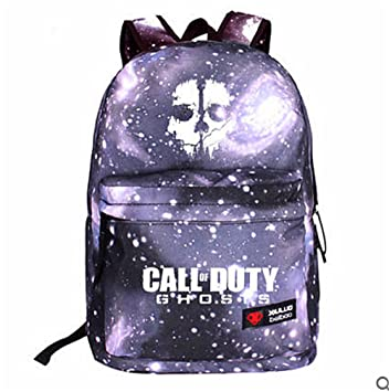 0eef0f23593 Call of Duty Ghosts Backpack Cool School Bag ,galaxy black  Amazon.co.uk   Toys   Games