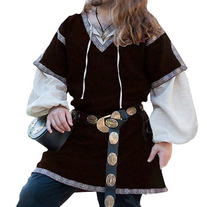 Hombre Medieval Camisa 2 Piezas Set Halloween Actuación ...