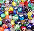 "Miracolors - 1 Lb - Mixed Colors Glass Gems - Vase Fillers (12-19mm, Approx. ½""- ¾"")"