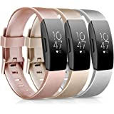 [3 Pack] Soft TPU Bands Compatible with Fitbit Inspire HR/Fitbit Inspire/Fitbit Ace 2 Wristbands Sports Waterproof…