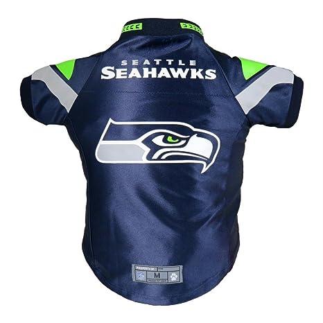 super popular 5fb7b daeba Amazon.com : Seattle Seahawks Pet Premium Jersey - Big Dog ...