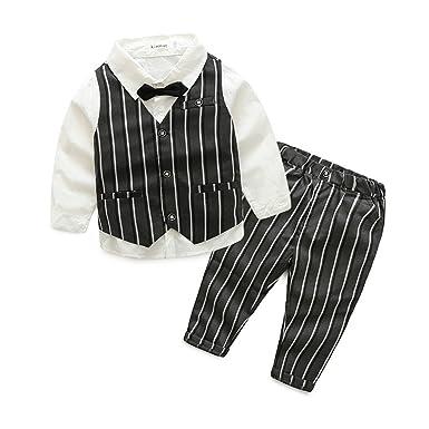 4f9f7223c7a1e e.life 子どもスーツ 男の子スーツ 長袖シャツ・ズボン・ベスト 3点セット