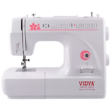 Vidya Marvel Stitchsewing Machine White And Pink Amazonin Home Inspiration Vidya Sewing Machine With Table