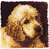 "Wonderart Latch-Hook Kit, Puppy Love, 12"" X 12"""