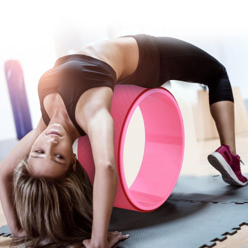 Zerone Yoga Wheel, Fitness Yoga Wheel Ring Bend & Stretch Roller Flexibility Back Workout Pilates, Flexibility Aid for Yoga Posture and Pilates Exercises. 31 * 12.5 cm
