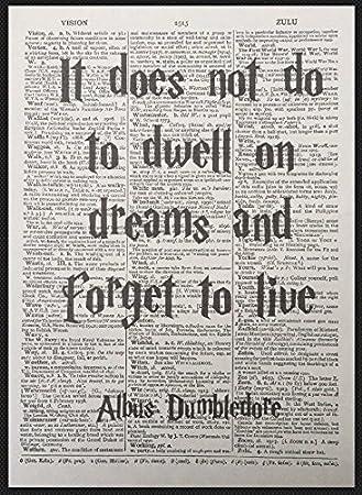 Amazon De Albus Dumbledore Zitat Harry Potter Vintage