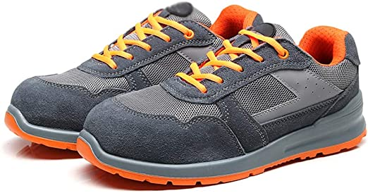 Djpcvb Zapatos de Seguridad para Hombre, Transpirables