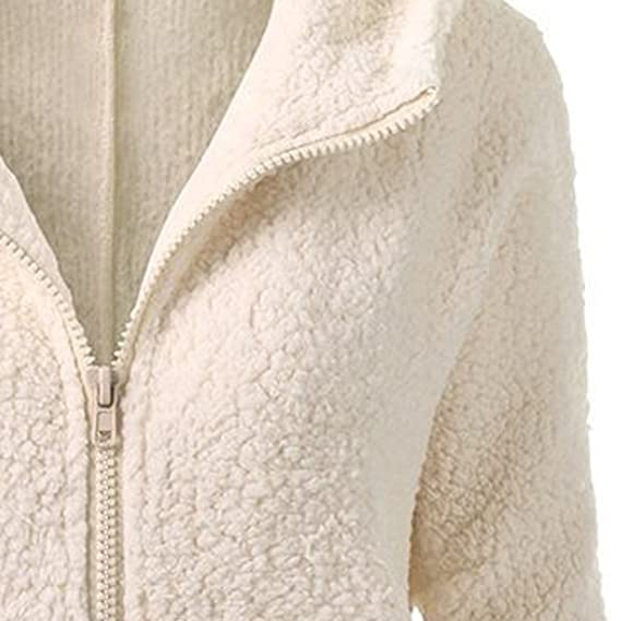Amazon.com: Hooded Pgojuni Fashion Women Sweater Coat Winter Outwear Warm Wool Zipper Coat Cotton Coat (Beige, S): Home & Kitchen