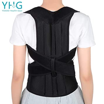87c0dfd84 Back Brace Posture Corrector Adjustable Back Shoulder Lumbar Waist Support  Belt for Men and Women