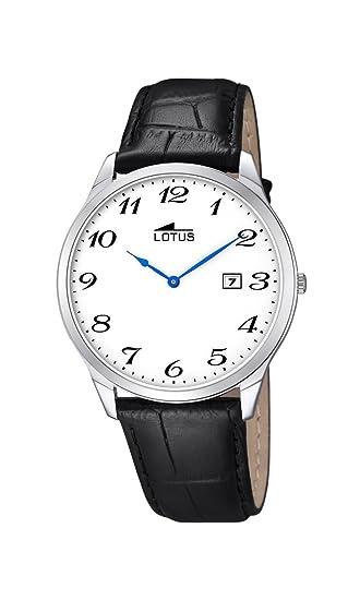 Lotus Reloj Analógico para Hombre de Cuarzo con Correa en Cuero 10124_1