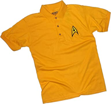 Command Gold Uniforme Bordado -- Star Trek Adulto Polo Camisa ...