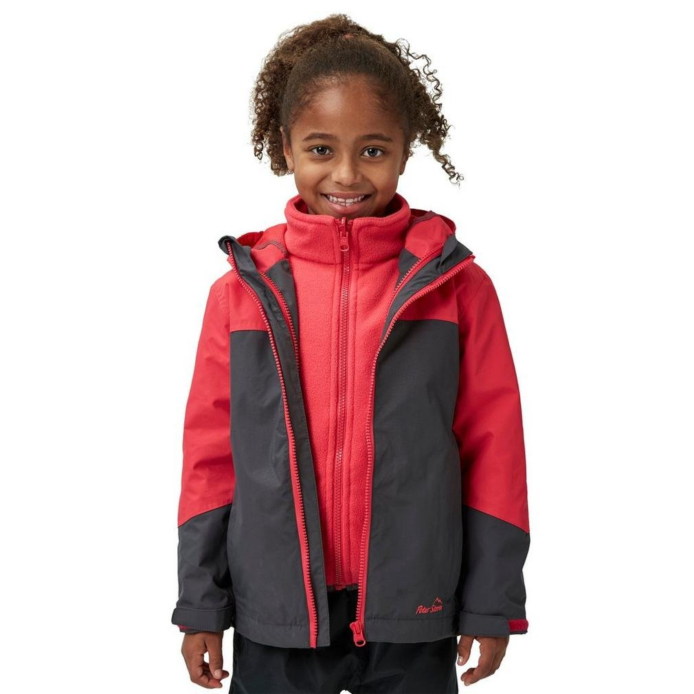 Peter Storm Girls Cloudburst 3-in-1-Jacke, Grau, 9-10 Jahre