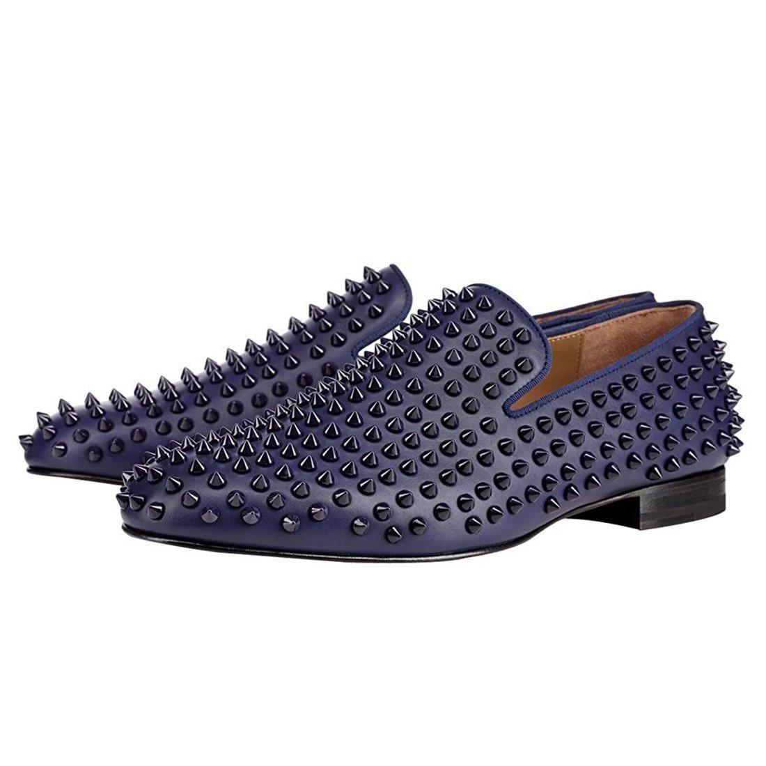 Cuckoo Cuckoo Cuckoo Rivets Hommes Slip on Mocassins Oxford Noir Dress Chaussures B075T3T53T Chaussons d9e600