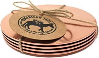 product image for Copper Coaster Set by American Mule (4 Coasters Total)