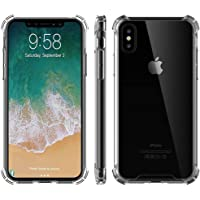 iPhone X Case, Clear Slim Hybrid Cover for Apple iPhone X / 10 - Crystal