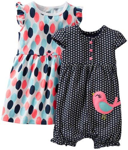 Carters Baby Birdy Dots Dress & Romper Set