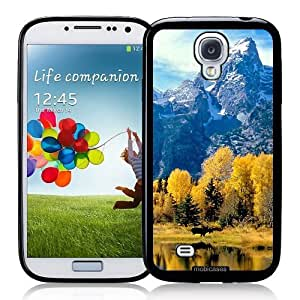 Cool Painting Grand Teton National Park Wyoming - Protective Designer BLACK Case - Fits Samsung Galaxy S4 i9500