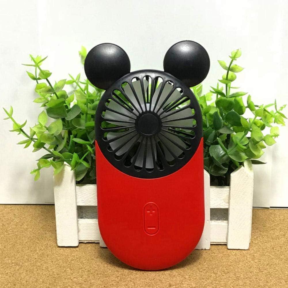 Mnbvcxzey Mini-Ventilator mit einer tragbaren LED-Lampe, ultradünn Mickey Cherry Pollen Kt Kirschpollen