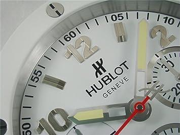 Amazon.com: HUBLOT Silent Luminous Sweep Wall Clock, White+White: Home & Kitchen