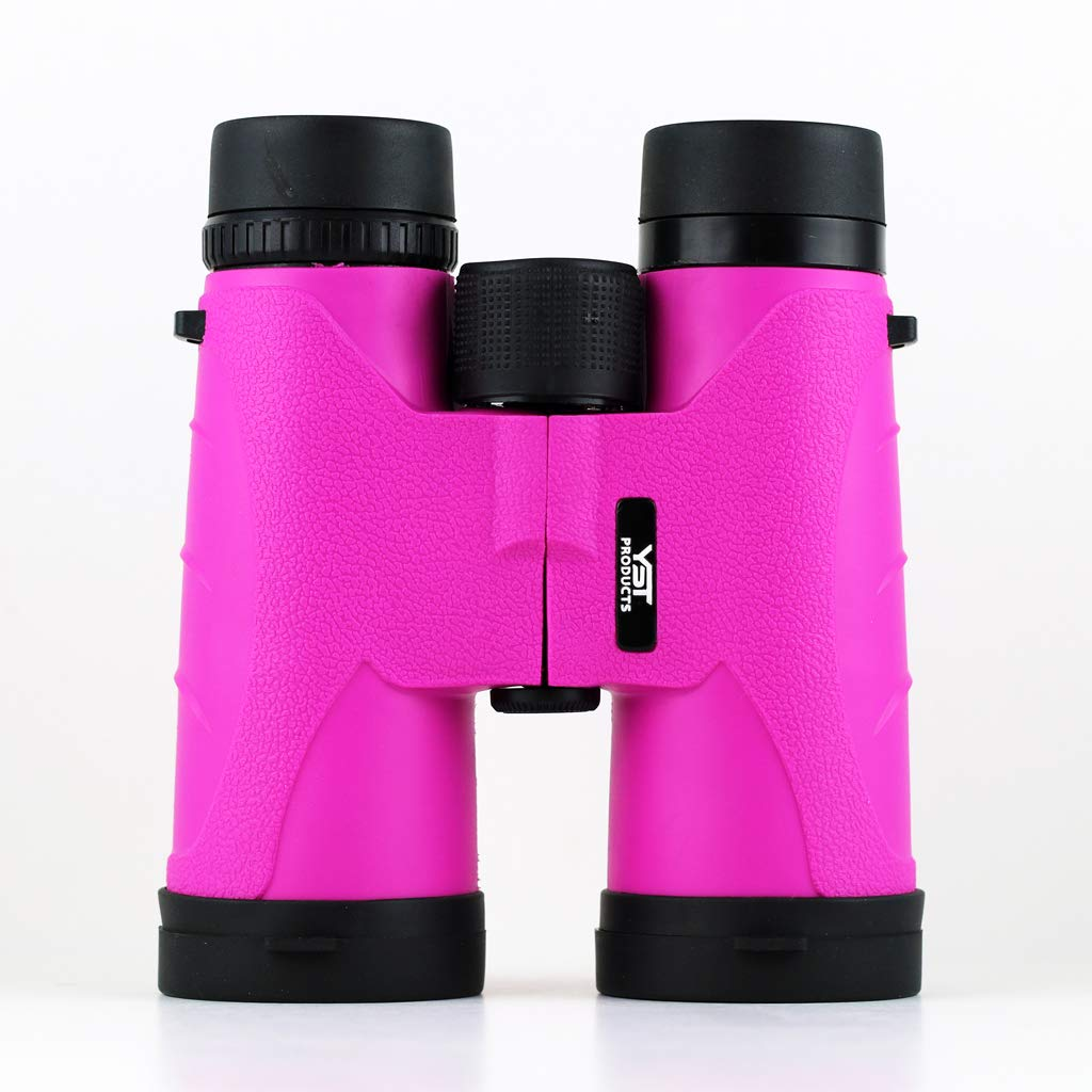 Binoculars 10×42 Pink YST PRODUCTS – Fully Multi-Coated Optics – Bright and Clear Visibility – Best Birding Experience – Compact Lightweight Binoculars for Adults Kids – Great for Traveling Hunting
