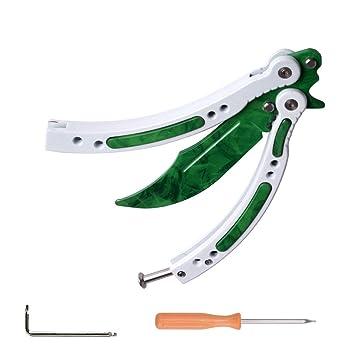 CSGO Mariposa de cuchillos Plegar Ejercicios (Verde+Blanco ...