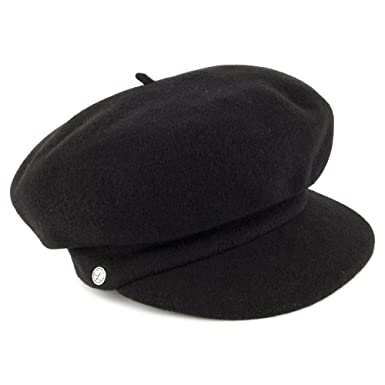 Laulhère Hats Gloria Baker Boy Cap - Black 1-Size  Amazon.co.uk ... b1075c86e677