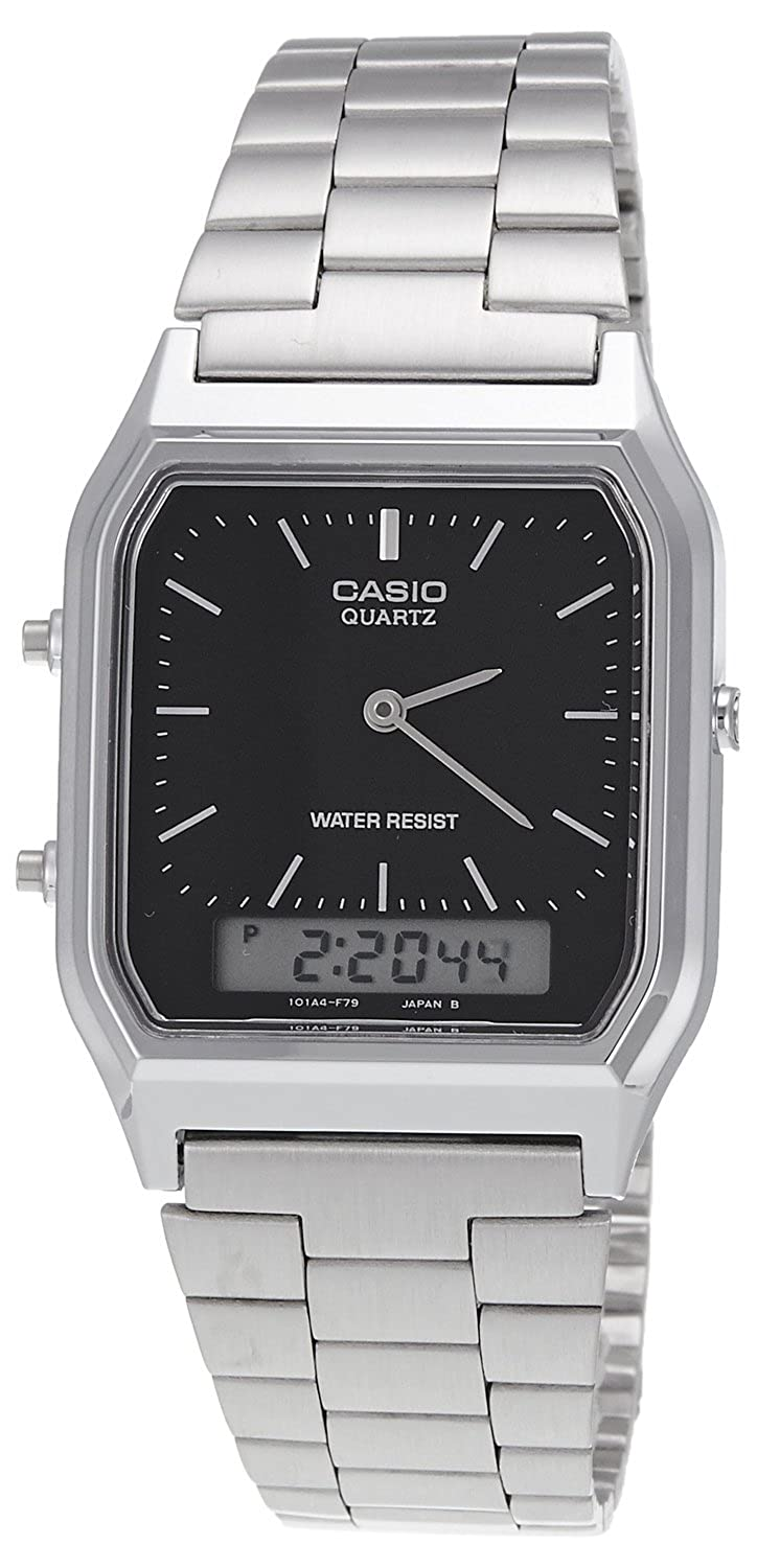 5958ec9c066c Buy Casio Vintage Series Analog-Digital Black Dial Men s Watch -  AQ-230A-1DMQ (AD01) Online at Low Prices in India - Amazon.in