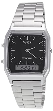 6e7cee5b61b Image Unavailable. Image not available for. Colour  Casio Vintage Series  Analog-Digital Black Dial Men s Watch ...