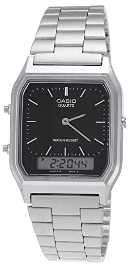 Casio Collection AQ-230A-1DMQYES, Reloj Analógico-Digital para Hombre, Negro: Casio: Amazon.es: Relojes