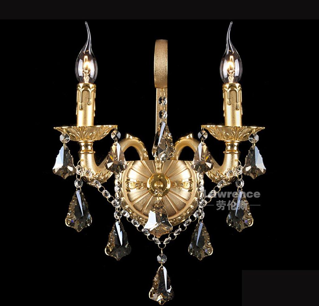 da non perdere! TOYM UK-In UK-In UK-In lega di zinco quadro K9 cristallo decorazione dorata Lampada da parete  sconto di vendita