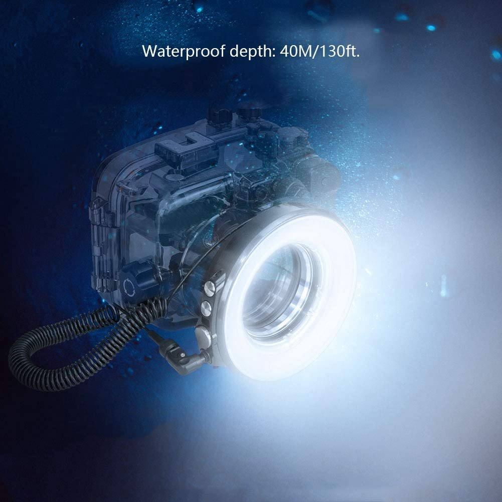 SL-108 67mm Portable Waterproof Underwater Diving Camera Flash Light Adjustable Brightness Color Temperature for Cameras Waterproof Housing LED Ring Flash