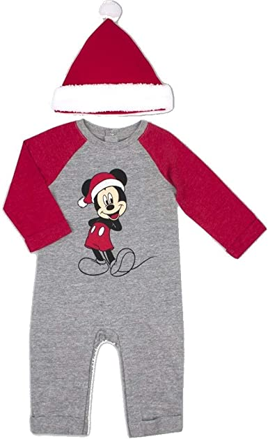 Grey Sleepsuit /& Hat Set for Baby Boys Mickey Mouse Disney