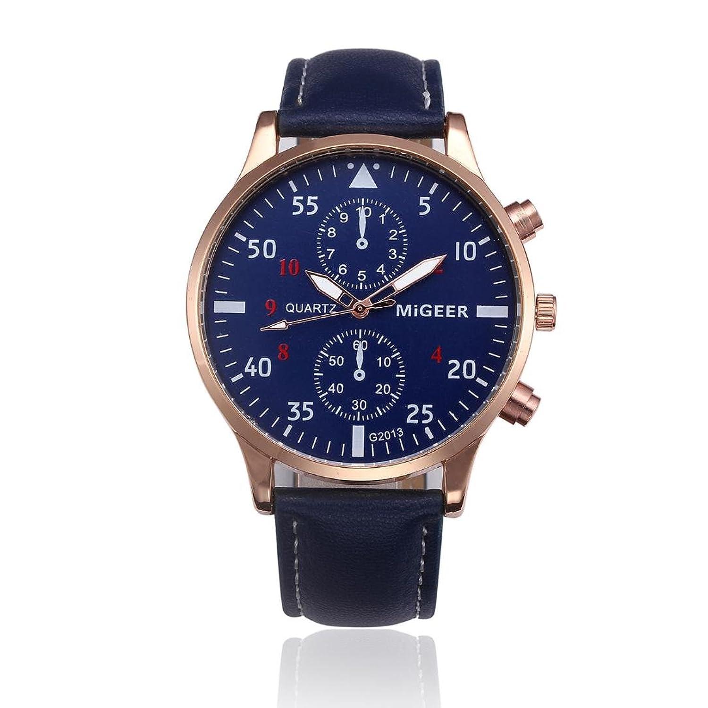 オスビジネス腕時計、Sinmaシンプルクラシック腕時計アクリルダイヤルアナログクォーツブレスレット腕時計 B0727QGV5D ブラウン