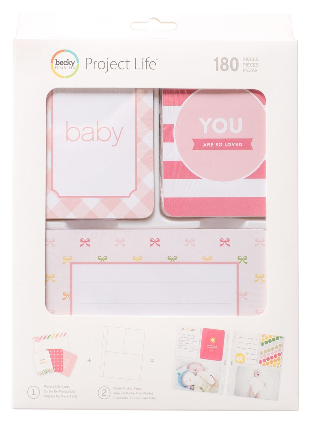 Project Life Baby Girl Scrap Book Value Kit Becky Higgins