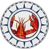 Enamelware - Lobster Pattern - 10½ inch Dinner Plate