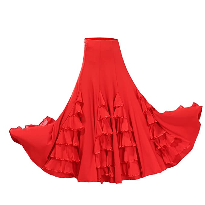 Dolity Traje de Baile Flamenco Baile Vals Vestido Largo ...