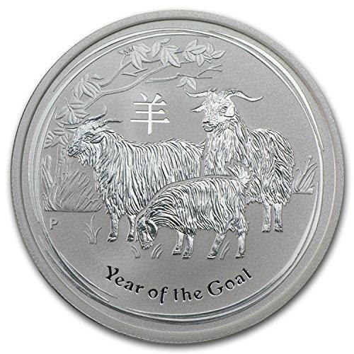 Lunar Goat - 2015 AU Australia 1/2 oz Silver Lunar Goat BU 1/2 OZ Brilliant Uncirculated
