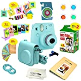 Fujifilm Instax Mini 9 Instant Camera ICE BLUE w/ Film and Accessories – Polaroid Camera Kit