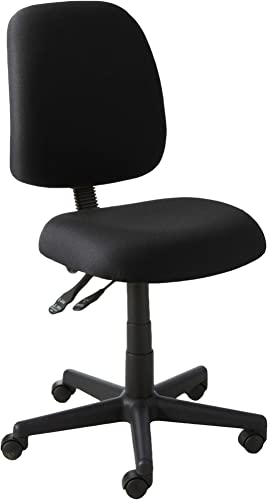 OFM Core Collection Posture Series Armless Mid-Back Task Chair, in Black 118-2-805