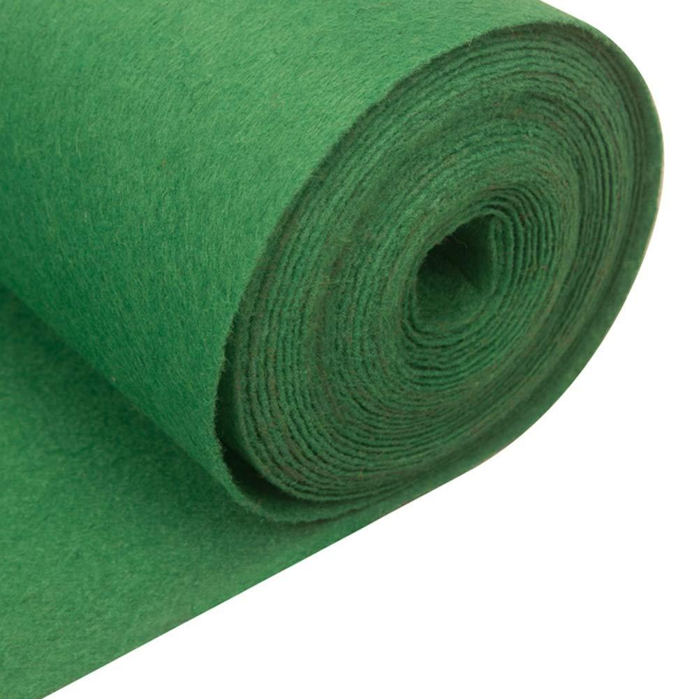 JIAJUAN 敷物 結婚式 儀式 通路 ランナー 緑 カーペット 厚くする 使い捨て ヘビー 義務 アウトドア 儀式 イベント 長いです ラグ (色 : Green-2mm, サイズ さいず : 1.5x30m) B07RRXMM5S Green-2mm 1.5x30m