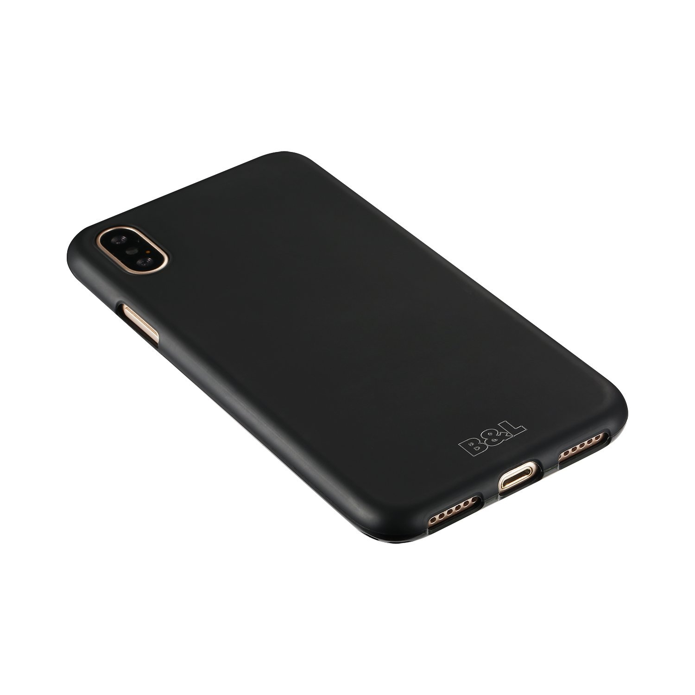 #B&L Schutzhülle für iPhone X | Slim 1,0mm | Schwarz#