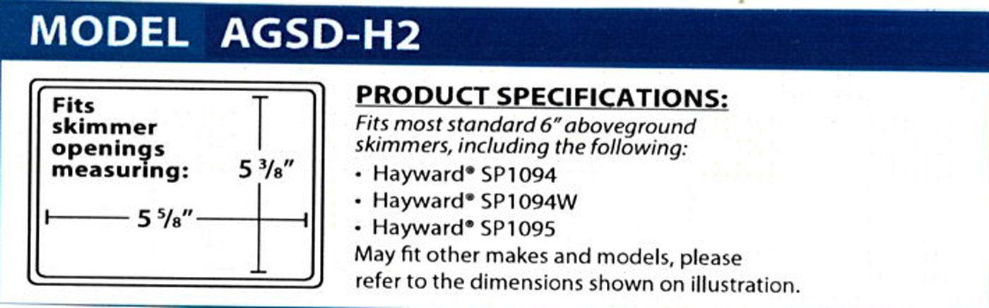 Above Ground Swimming Pool Winterizing Skimmer Guard Plug Fits Hayward SP1091LX