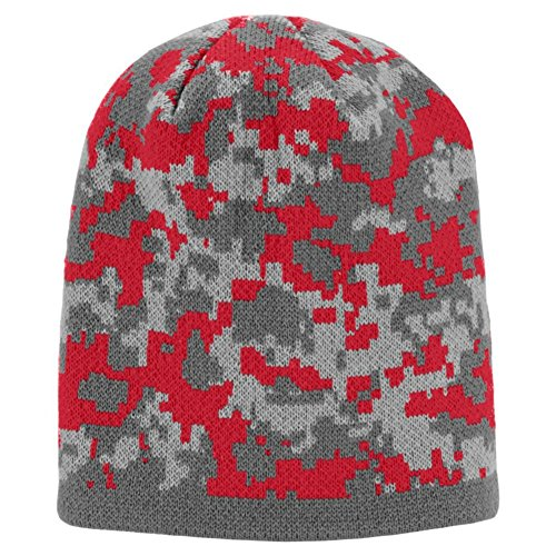 Augusta Activewear Digi Camo Knit Beanie, Red Digi, One - The Augusta Mall