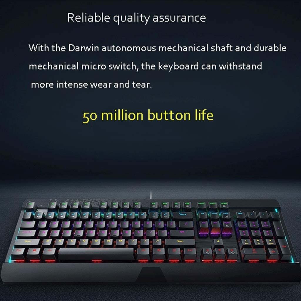 XXW Mechanical Keyboard Green Axis Wired Home Office Computer Notebook Desktop Mechanical Gaming Keyboard LED Backlight