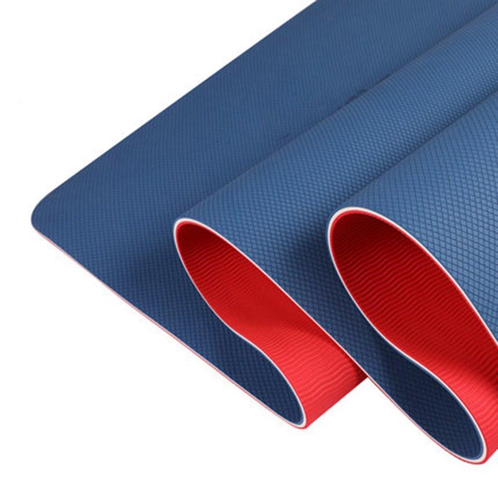 Yoga Matte Sehr Starke Blaue Frauen Tasche, Umweltfreundliche Nicht Beleg-Eignungsmatte, 10mm