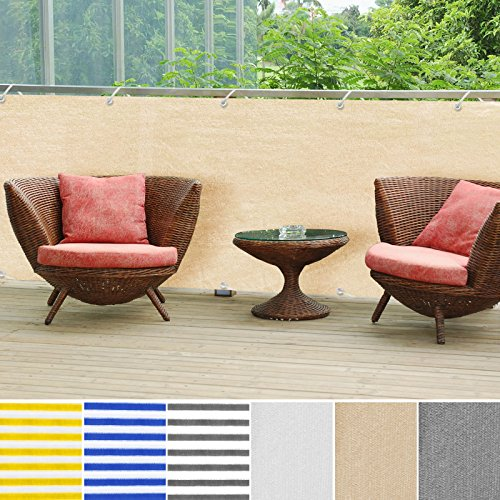 casa pura Balcony Privacy Screening Cover | Screen Cover for UV Protection - 3' x 16'4