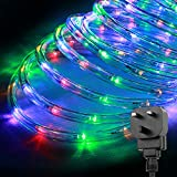 LE Outdoor LED Rope Lights Kit, 10m 240 LEDs Waterproof Strip Lights, 24V, Christmas Decorative Lighting for Garden Fence Patio Home, RGBY