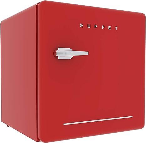KUPPET refrigerador clásico retro compacto de una sola puerta ...