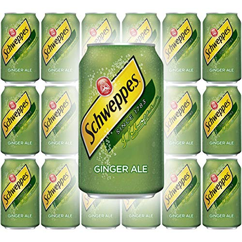 Schweppes Ginger Ale Soda, 12 Fl Oz Can (Pack of 18, Total of 216 Oz)