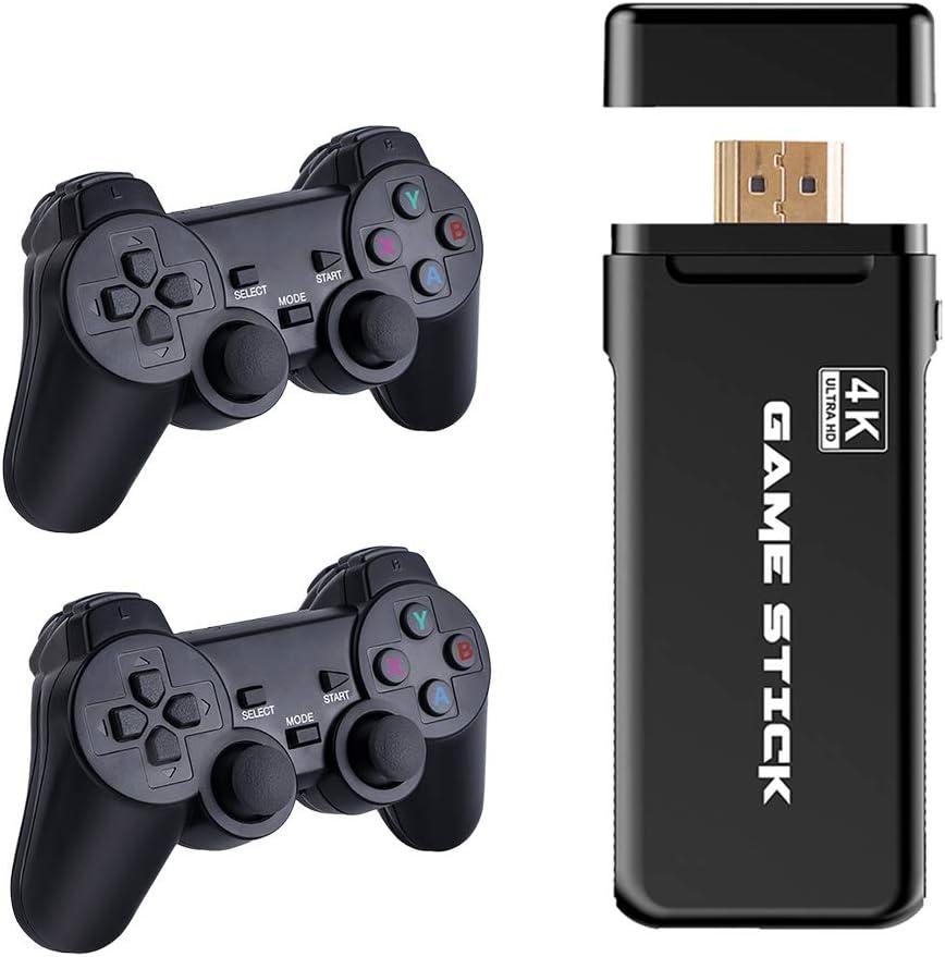 taianle Consola de Juegos Retro USB Consola inalámbrica Game Stick Consola de Videojuegos HD Salida de TV HDMI 4K Regalo de Doble Jugador para Adultos y niños (Controlador y Game Stick)